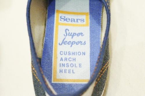 DEAD STOCK 70'S SEARS SUPER JEEPERS DENIM SNEAKER (BLE/WHT)
