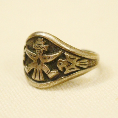vintage bell trading silver ring
