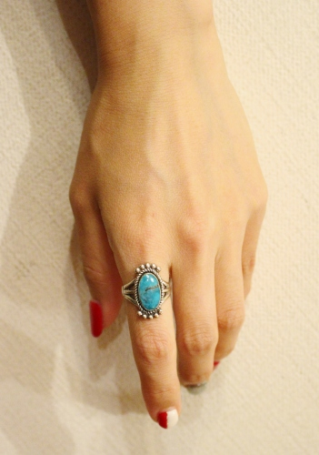 VINTAGE MAISEL'S INDIAN TRADING POST TURQUOISE SILVER RING