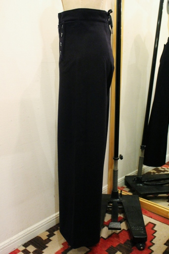 60'S US NAVY 13 BUTTON WIDE LEG WOOL SAILOR PANTS (NVY)