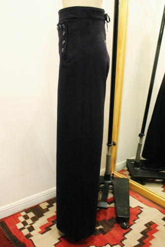 70'S US NAVY 13 BUTTON WIDE LEG WOOL SAILOR PANTS (NVY)