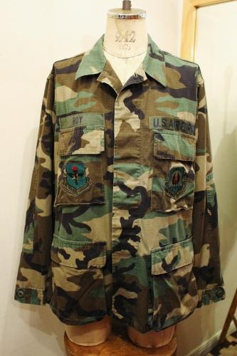 80'S US MILITARY WOODLAND CAMO BDU JACKET (OD/BRN/BEIGE)