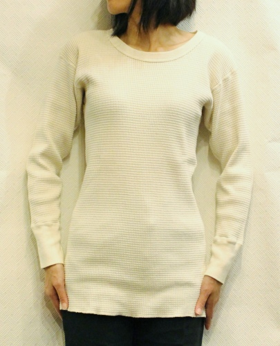 VINTAGE FRUIT OF THE LOOM LONG SLEEVE THERMAL (O.WHT)