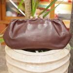 30'S~ LEATHER CLUTCH BAG(BRN)