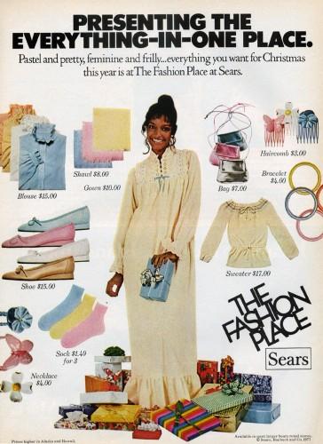 sears the fashion place ad