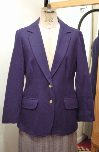 70'S~ GOLD BUTTON WOOL TAILORED JACKET(NVY)