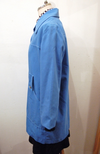 60'S~ LIGHT WEIGHT MIDDLE LENGTH COAT(CYAN)