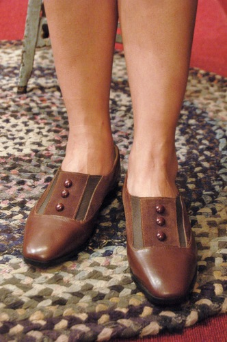 DEAD STOCK 80'S~ LEATHER & SUEDE SLIP ON SHOES(BRN・MADE IN FRANCE)