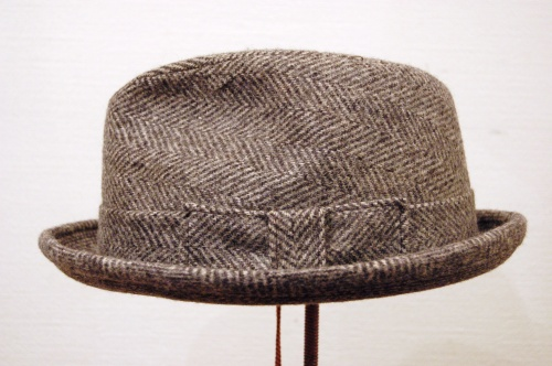 VINTAGE TWEED FEDORA HAT(C.GRY)