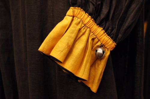 20'S~ CLOWN COSTUME JUMPSUIT (BLK/YLW)