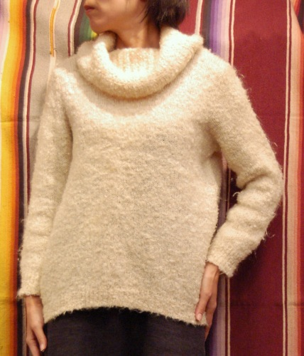 70'S~ LOOP KNIT OFF TURTLE SWEATER(IVY)