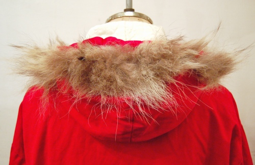 60'S~ WHITE STAG NYLON QUILTING FUR PARKA(RED)