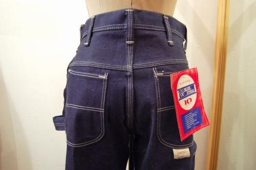 DEAD STOCK 70'S~ BLUE STEEL DENIM PAINTER PANTS(D.BLE)