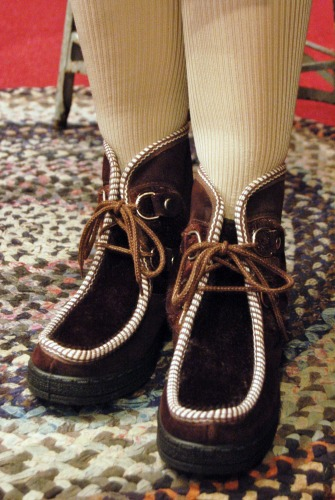 DEAD STOCK 70'S~ LACE UP SUEDE FAKE FUR ESKIMO BOOTS(MADE IN ITALY/D.BRN)
