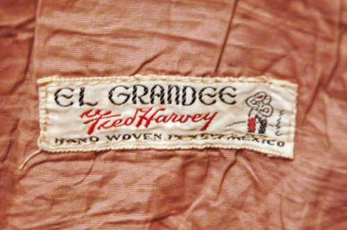 40'S~ EL GRANDEE FRED HARVEY CHIMAYO TOTE BAG (O.BEIGE)