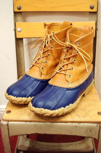 L.L.BEAN BEAN BOOTS/MAINE HUNTING SHOES(NVY/MADE IN USA)
