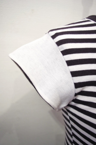 70'S~ HUK・A・POO FRENCH SLEEVE BORDER TOPS(BLK/WHT)