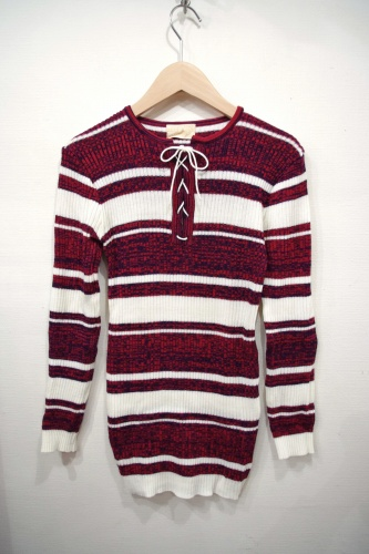 deadstock vintage lace up tops