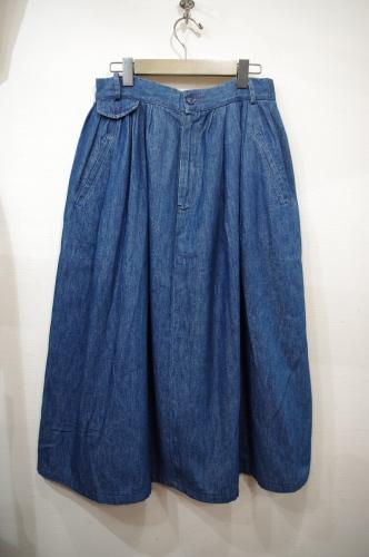 polo country denim skirt