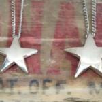 DEAD STOCK 70'S~ SILVERCLAD STAR PENDANT NECKLACE(SLV)