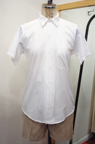 DEAD STOCK 60'S~ TOWN TOPIC Jr. COTTON SHORT SLEEVE SHIRTS(WHT)