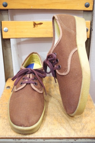 DEAD STOCK 60'S~ CANVAS SHOES BOOSTER TYPE(BRN)