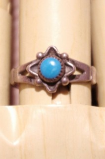 VINTAGE BELL TRADING NAVAJO TURQUOISE SILVER RING
