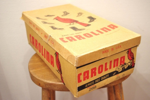 DEAD STOCK 60'S~ CAROLINA CORK SOLE WORK BOOTS(D.BRN)