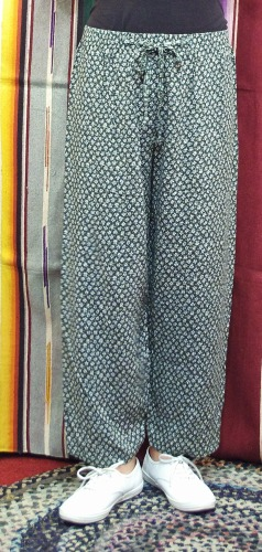 80'S~ FLOWER PRINT EASY PANTS(GRN/WHT/YLW/D.RED)