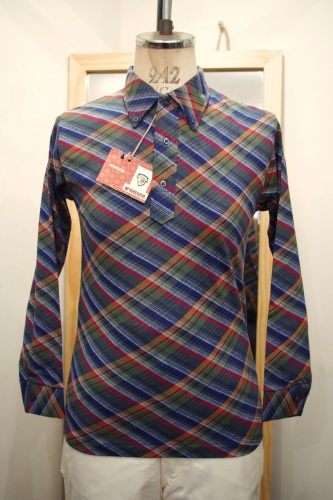 DEAD STOCK 60'S~ McGREGOR CHECK B.D POLO SHIRTS (NVY/S.GRN/ORG/RED/WHT)