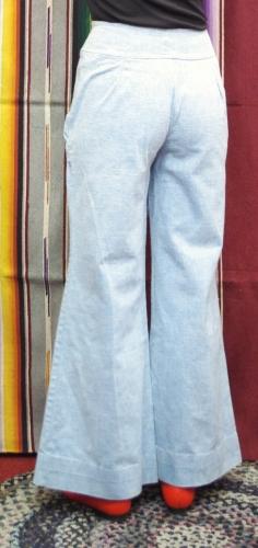 70'S~ DOUBLE ZIPPER WIDE LEG BAGGY PANTS(I.BLE)