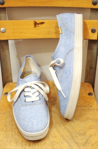 KEDS CHAMBRAY DECK SHOES(S.BLE)