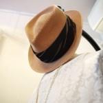 VINTAGE KIMSON STRAW HAT(NTRL)