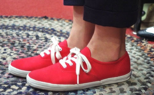 KEDS CANVAS DECK SHOES(RED)