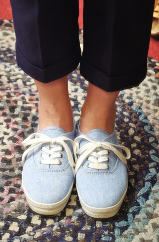 IKEDS CHAMBRAY DECK SHOES(S.BLE)