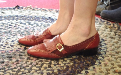 70'S~80'S WING TIP KILT BELTED LOAFER SHOES(MADE IN ITALY/BGDY)
