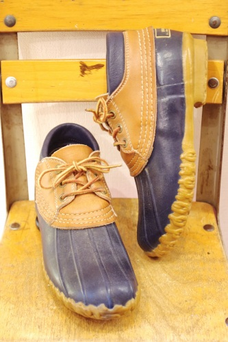 80'S~ L.L.BEAN BEAN MAINE HUNTING SHOES(NVY/MADE IN USA)