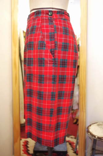 60'S~ LADY'S CHECK SHORT PANTS(RED/GRN/WHT)
