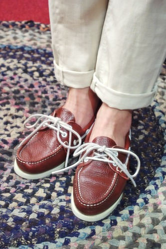 DEAD STOCK QUODDY BOAT MOCCASIN DECK SHOES(BGDY/MADE IN USA)