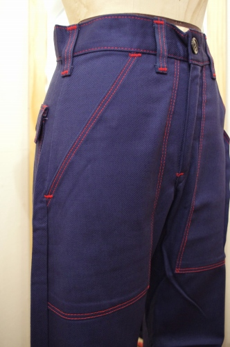 DEAD STOCK 70'S~ ELY FATIGUE PANTS(NVY)