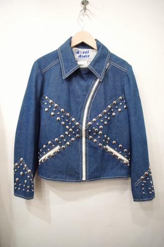 vintage studs denim jacket