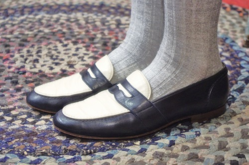 RALPH LAUREN 2 TONE PENNY LOAFER(NV/WHT・MADE IN ITALY)