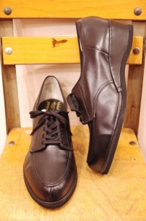 DEAD STOCK 50'S~60'S V-TIP LOW WEDGE LACE UP SHOES(BLK)