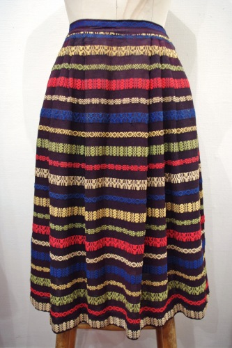 60'S~ GUATEMALA EMBROIDERED SKIRT(BLK)