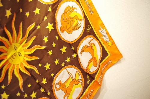 vintage zodiac scarf