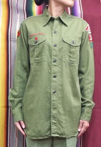 50'S~ BOY SCOUT UNIFORM COTTON SHIRTS(O.GRN)