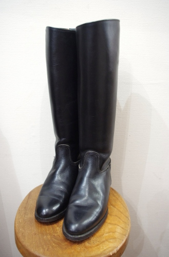 VINTAGE LEATHER JOCKEY BOOTS WITH SPUR (BLK・MADE IN USA)