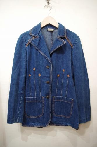 vintage denim tailoered jacket