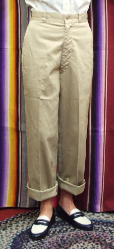 60'S~ US MILTARY CHINO PANTS(BEIGE)