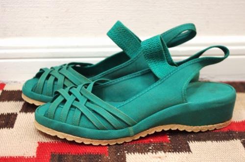 deadstock summerettes canvas wedge sandal